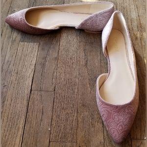 Nine West Lilac Pink Ballet Flats Faux Suede